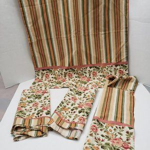 Better Homes & Gardens Curtain Set Striped Floral